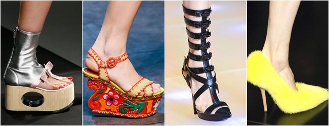обувь весна-лето 2013 тенденция - эпатаж