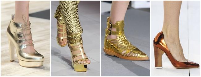 обувь весна-лето 2013 золотые