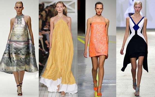 стильные платья 2013 эксперименты