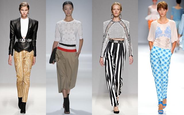женские брюки 2013 фото с подиумов