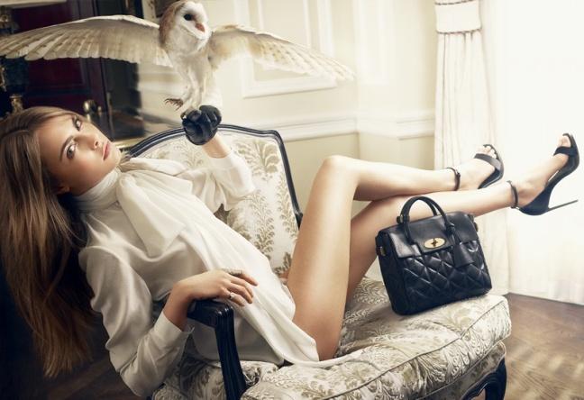 рекламная кампания Кары Делевинь для новой коллекции сумок Mulberry