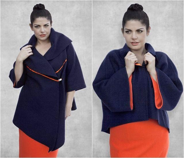 пальто для полных plus size 2014-2015 Dea London
