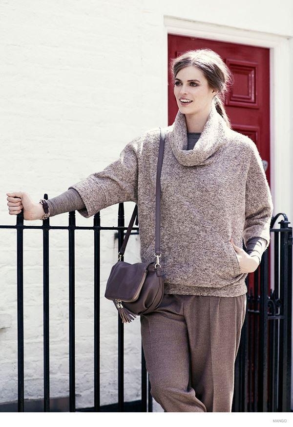 свитер с хомутом и брюки для полных mango violeta осень-зима 2014-2015
