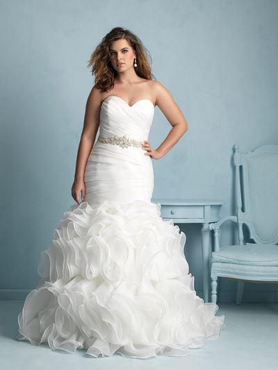 свадебная коллекция для полных allure bridals 2015