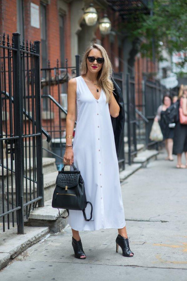 белый рюкзак с чем носить фото