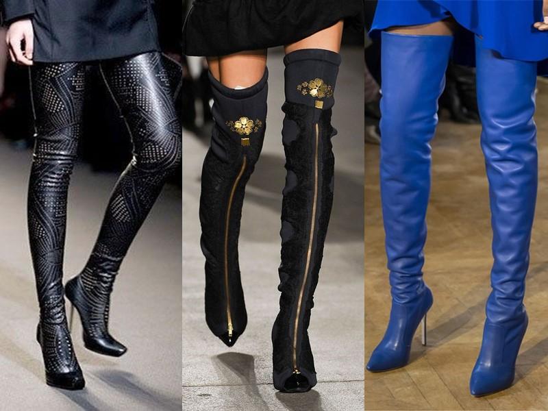 Антитренды в женской обуви 2021-2021 - сапоги-чулки облегающие
