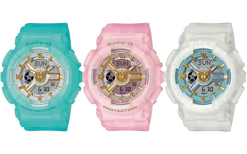Бренд BABY-G (Casio) представляет линейку цветных женских часов BA-110SC