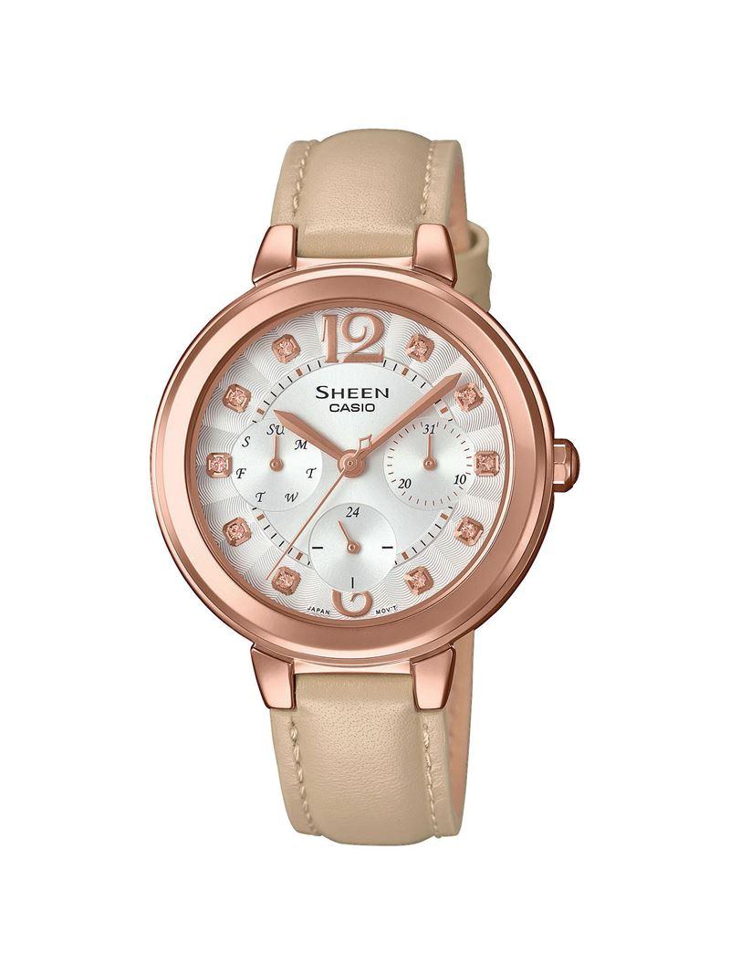 женские наручные часы Sheen (Casio) в кофейных оттенках - SHE-3048PGL-7BUER