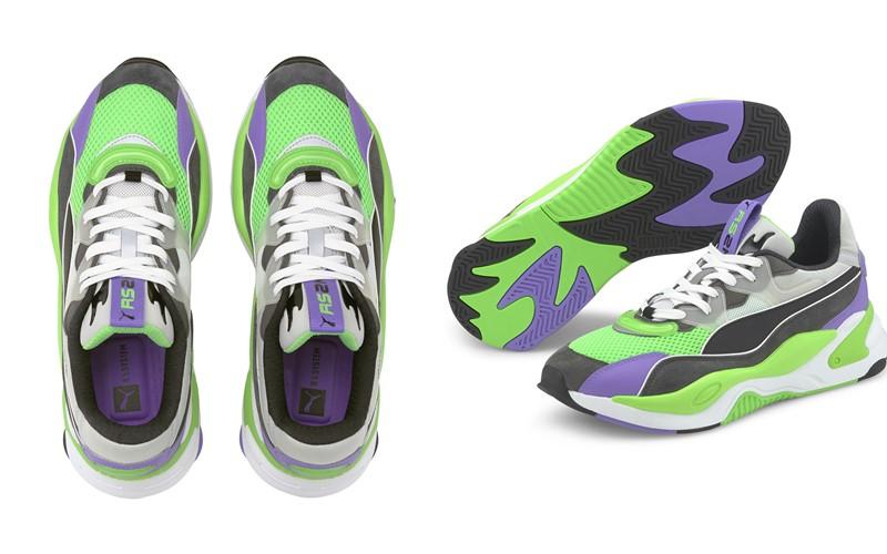 Новый силуэт кроссовок Puma RS-2K - зеленые и фиолетовые