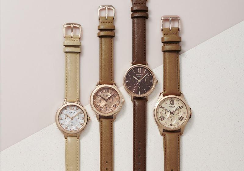 Точность и лаконичность: женские наручные часы Sheen (Casio) в кофейных оттенках