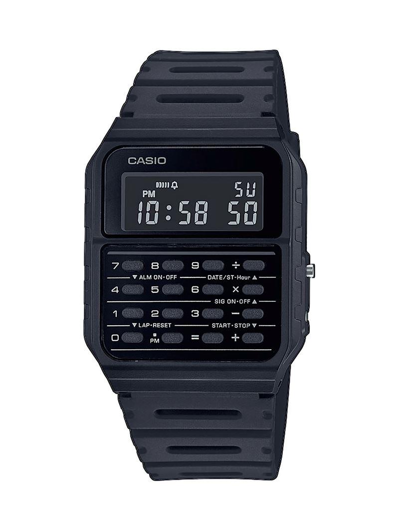 Наручные часы с калькулятором Casio Vintage - черные