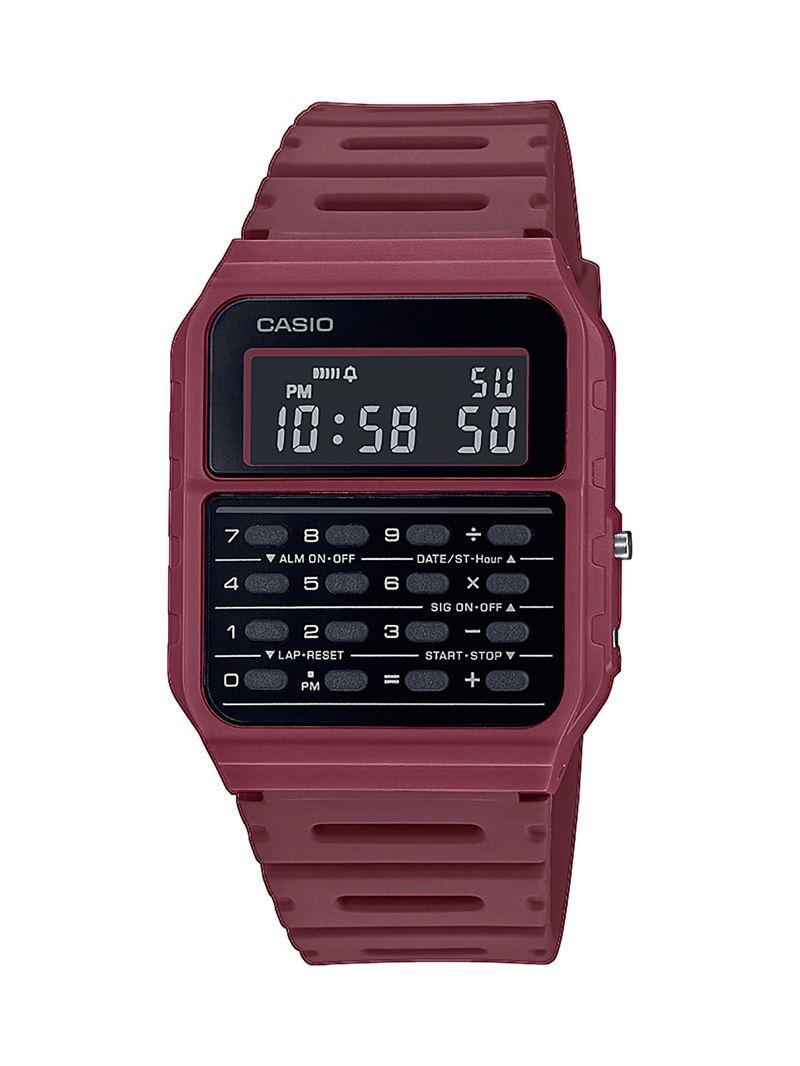 Наручные часы с калькулятором Casio Vintage - красные бордовые