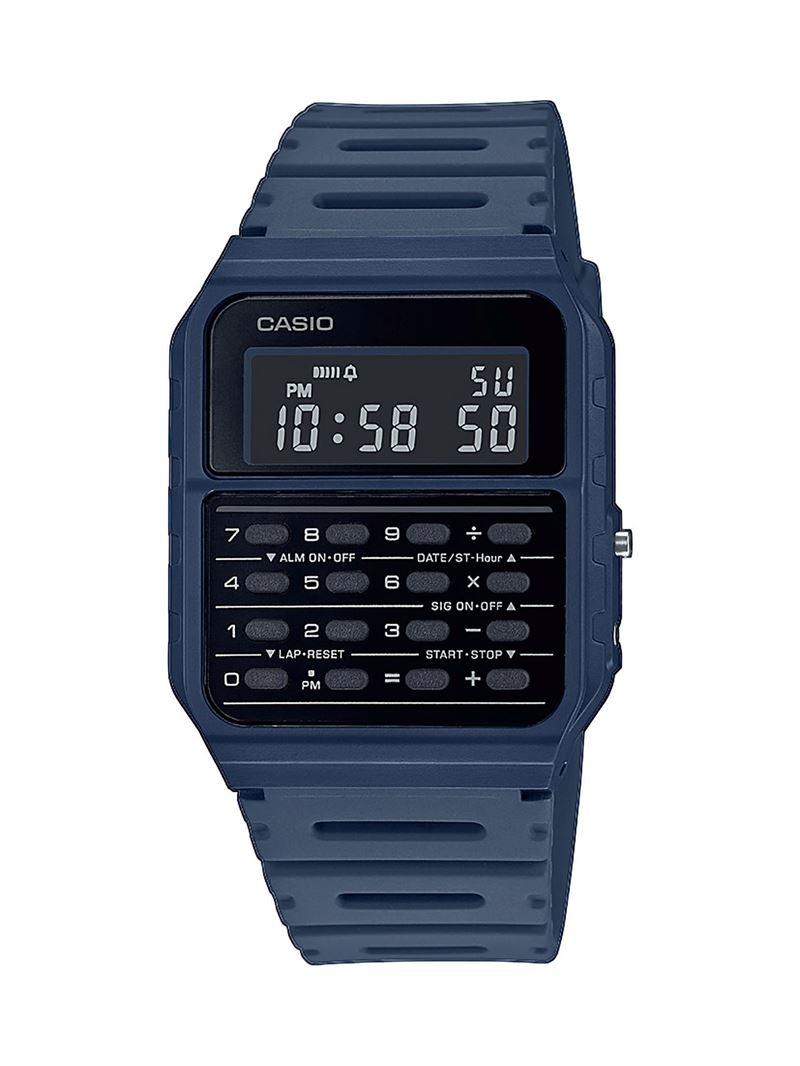 Наручные часы с калькулятором Casio Vintage - синие индиго