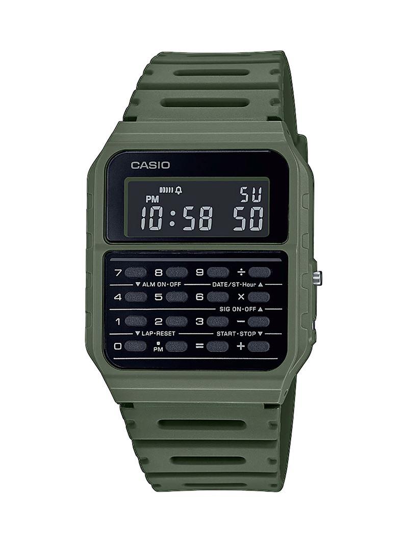 Наручные часы с калькулятором Casio Vintage - зеленые хаки