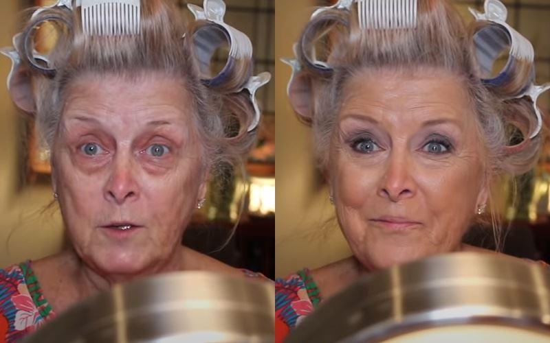 Бабушка на хайпе: 77-летняя блогерша показала свой макияж - до и после