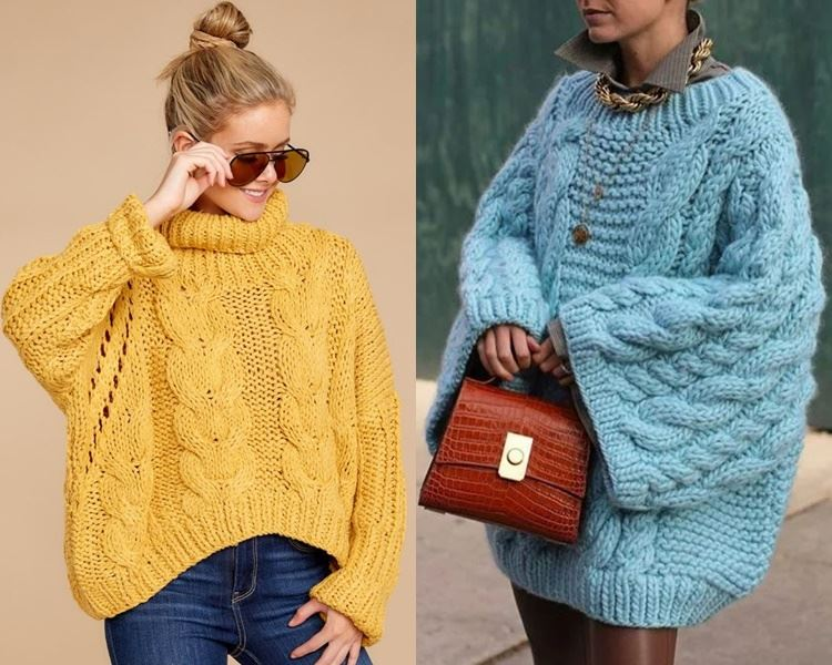 Ирландский свитер - оверсайз и гиперсайз