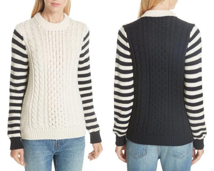 Ирландский свитер - полосатые рукава