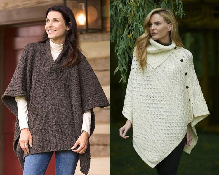 Ирландский свитер - пончо