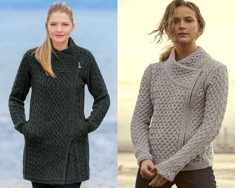 Ирландский свитер - трикотажное пальто и куртка