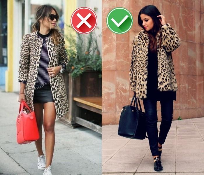 Как носить леопардовый принт - акцент для чёрного тотал лука