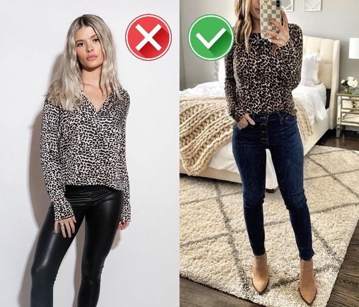 Как носить леопардовый принт - сочетание с денимом вместо кожи