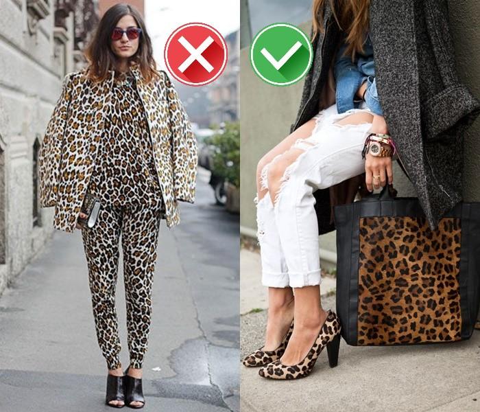 Как носить леопардовый принт - аксессуары вместо тотал лука