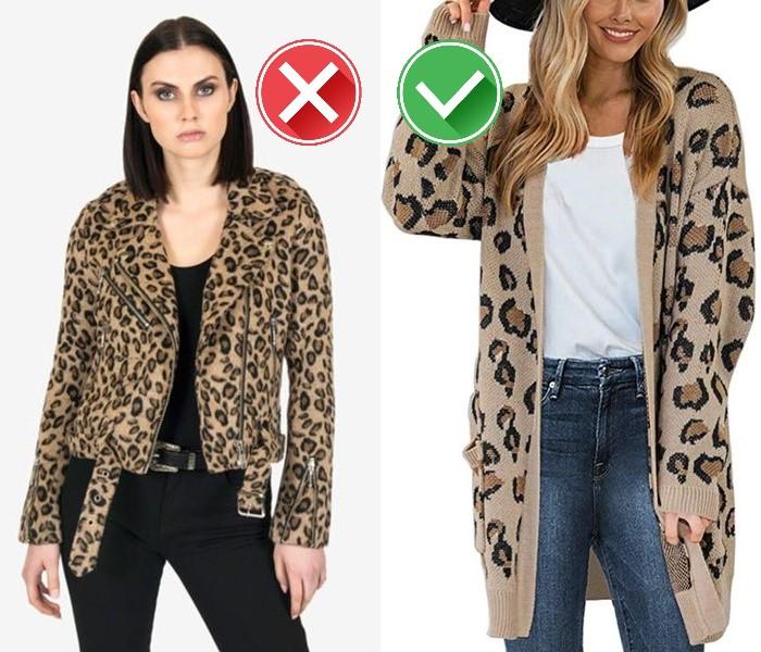 Как носить леопардовый принт - трикотажный кардиган вместо кожаной куртки