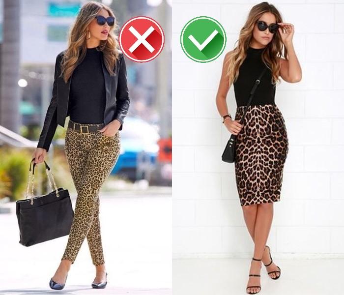 Как носить леопардовый принт - Юбка-карандаш вместо леопардового верха или брюк