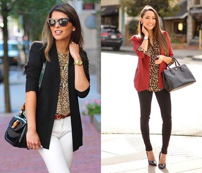 Как носить леопардовый принт - Жакет или пальто поверх леопардового принта