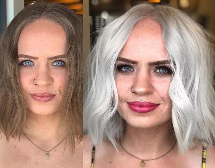 Спорные преображения в блондинку - Модная седина и невыигрышные акценты