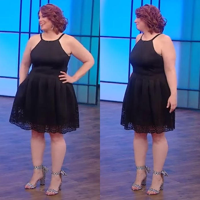 Преображение учительницы физкультуры - короткое платье