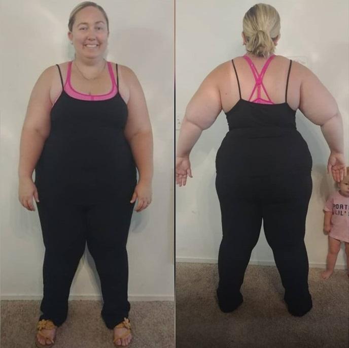 Женщина похудела без бариатрии и липосакции - Пегги в весе 136 кг