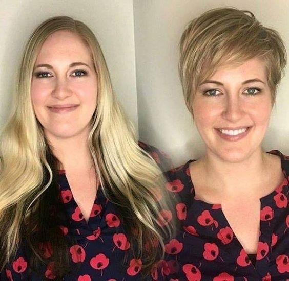 Короткие стрижки вместо длинных волос - тонкие волосы полное лицо