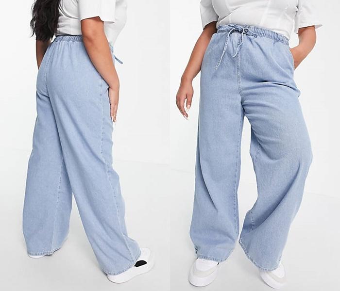 Джинсы для полных из каталога ASOS - Мешковатые джинсы на резинке