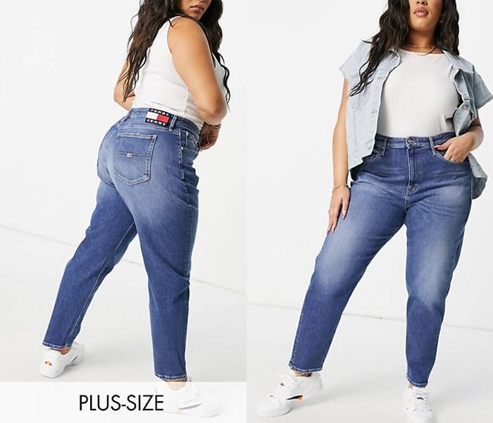Джинсы для полных из каталога ASOS - Классические потёртые джинсы