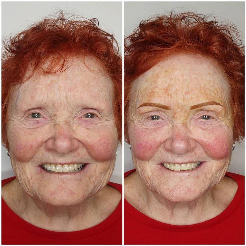 Микроблейдинг и татуаж женщины 50+ - яркие рыжие