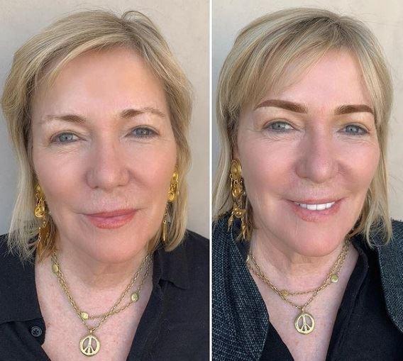 Микроблейдинг и татуаж женщины 50+ - неровные неудачно выщипанные