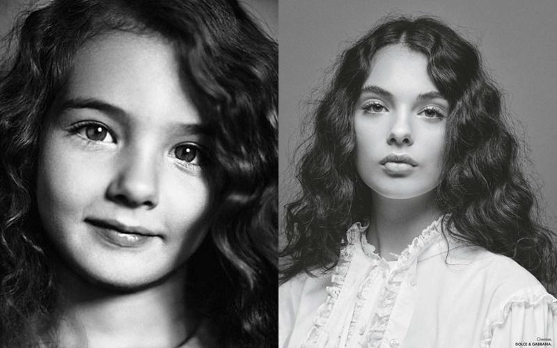 Дева Кассель - дочь Моники Беллуччи -  в детстве и в фотосессии Elle в 2020 году