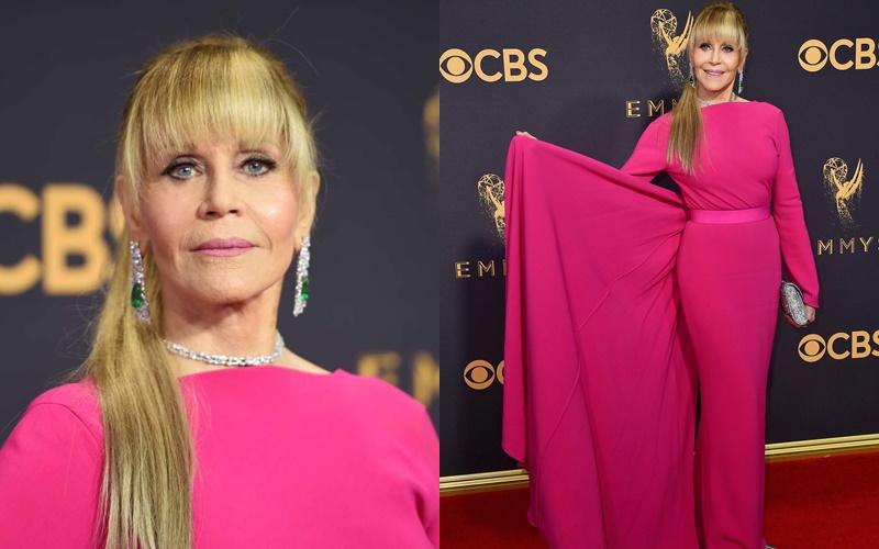 """Как Джейн Фонда в 80+ носит розовый - на премии """"Эмми"""""""