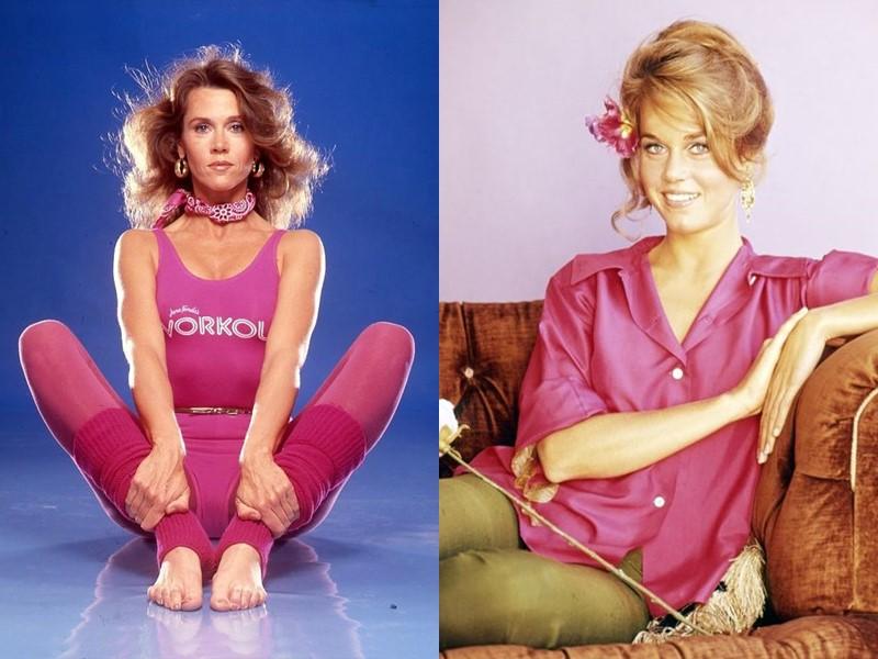 Как Джейн Фонда в 80+ носит розовый - молодость