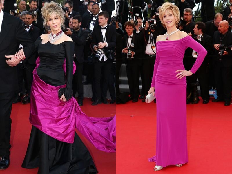 Как Джейн Фонда в 80+ носит розовый - на Каннском фестивале