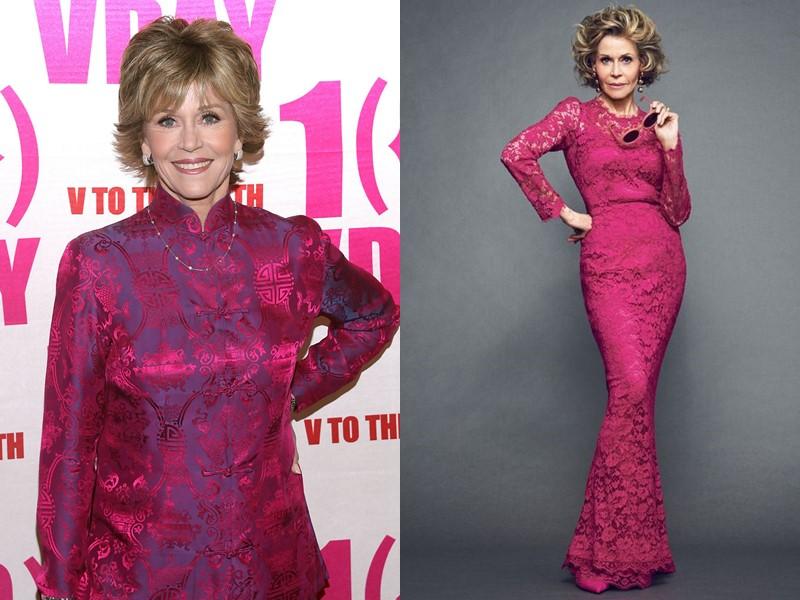 Как Джейн Фонда в 80+ носит розовый вопреки возрастным стереотипам