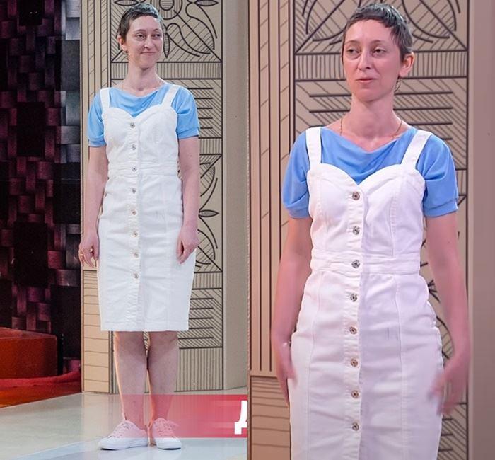 «Модный приговор» - преображение Марины - Белый сарафан на голубую футболку