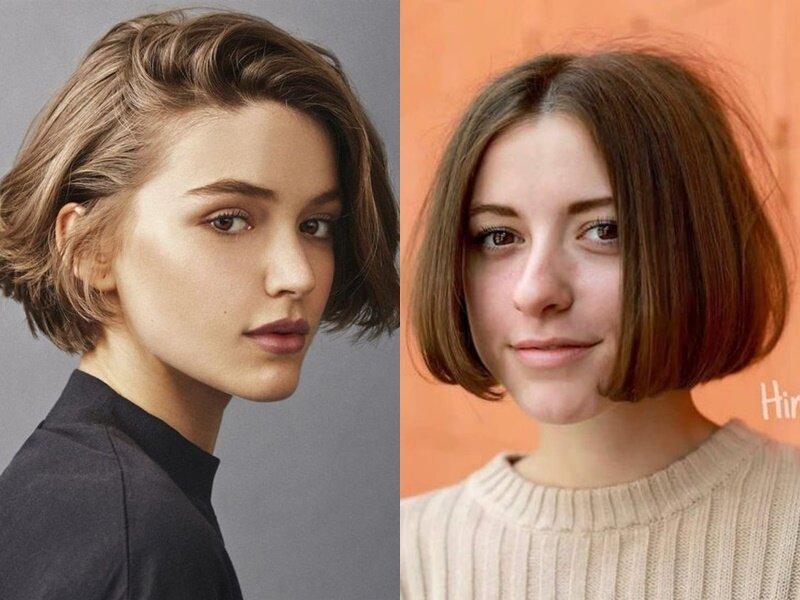 Модные причёски 2021 - Короткое каре до подбородка и выше