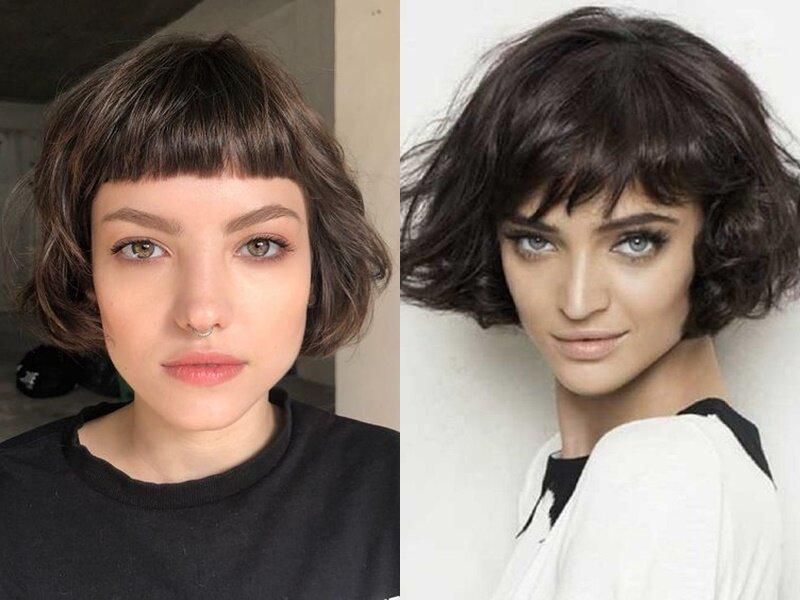 Модные причёски 2021 - Ультракороткая чёлка парижанки