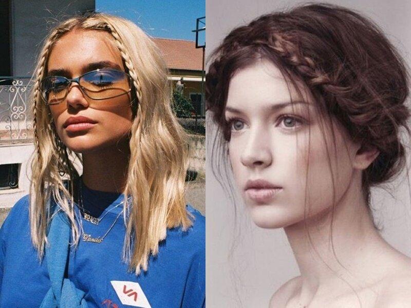 Модные причёски 2021 - Причёски с тонкими косами