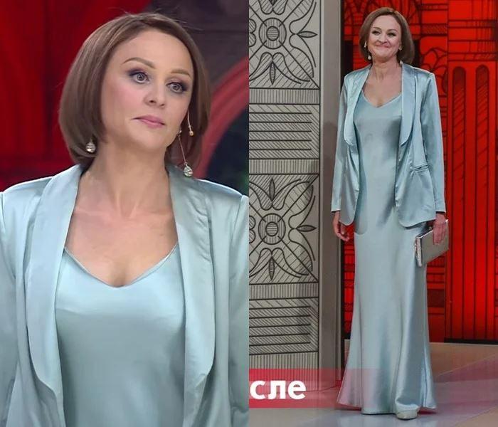 Преображение 49-летней Оксаны - Шёлковое платье-сорочка с жакетом