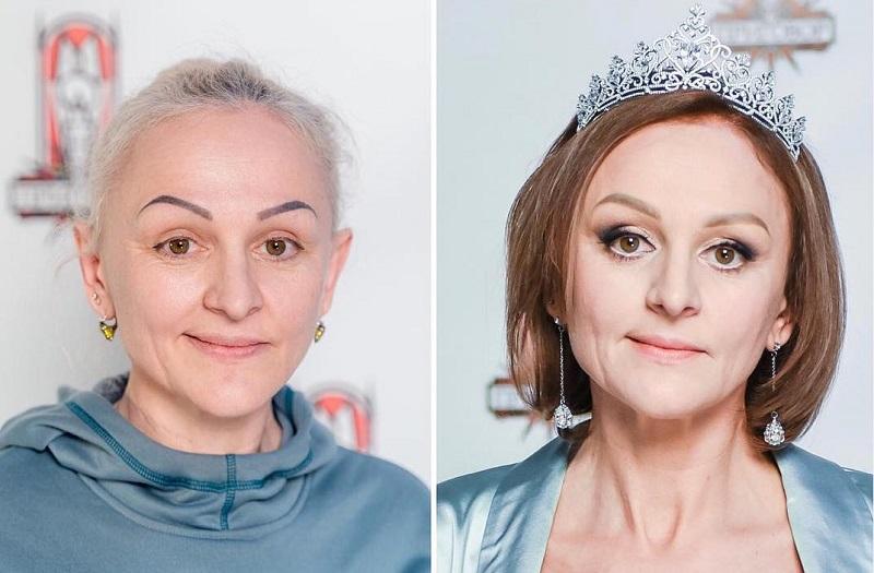 Преображение 49-летней Оксаны - до и после