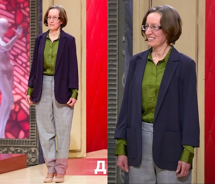 «Модный приговор»: Татьяна 55 лет - Брючный комплект с жакетом и рубашкой