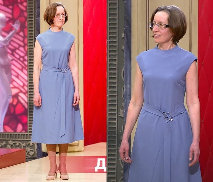 «Модный приговор»: Татьяна 55 лет - Платье без рукавов А-силуэта